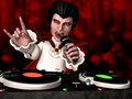 Vampire DJ Royalty Free Stock Image