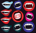 Vampire mouth Stock Photography