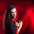 Vampire sexy girl this image has attached release Royalty Free Stock Images