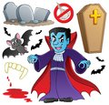 Vampire theme collection Royalty Free Stock Image