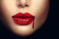 Vampire Woman Lips With Drippi...