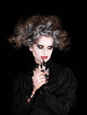 Vampire woman portrait, halloween concept