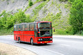Van hool t acron krasnodar krai russia july red interurban coach at the interurban road Stock Images