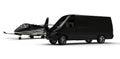 Van limousine with private jet