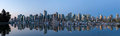 Vancouver BC City Skyline by the Harbor Panorama Royalty Free Stock Photo