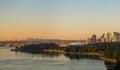 Park autumn morning view in Gothenburg, Sweden.