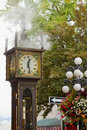 Vancouver BC Historic Gastown Steam Clock Royalty Free Stock Photo