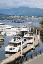 Vancouver BC waterfront & marina Canada. Stock Photography