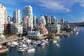 Vancouver in canada the city of british columbia Royalty Free Stock Photo
