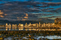 Vancouver City Center Shoreline Reflection Royalty Free Stock Photos