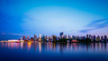 Vancouver City Skyline at Dusk Royalty Free Stock Photo