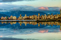 Vancouver City Skyline Reflection Stock Photo
