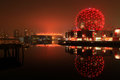 Vancouver false creek with the spherical science world and the bc place stadium in the background Stock Photography