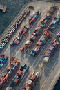 Vancouver Port Aerial Royalty Free Stock Photo