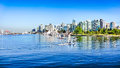 Vancouver skyline with harbor british columbia canada Royalty Free Stock Photos