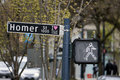 Vancouver street sign view of a in downtown of city canada Royalty Free Stock Photography