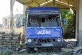 Vandalised abandoned truck Royalty Free Stock Photo