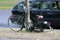 Vandalised bike circa august berlin a bicycle berlin Stock Photos