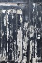 Vandalised, stratched and cracked black paint peeling off of boa Royalty Free Stock Photo