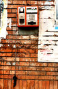 Vandalized Pay Phone Royalty Free Stock Photography