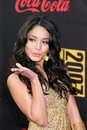 Vanessa anne hudgens american music awards nokia theater los angeles ca november Stock Image