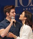"""Vanessa hudgens at stars in the alley actors corey cott and starring gigi """"stars """" a free outdoor concert accompanied by a Stock Photo"""