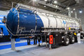 Vanhool trailer cistern at the th iaa commercial vehicles fair in hannover germany Stock Photos