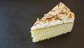 Vanilla cake with almond nut Stock Photography