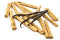 Vanilla cinnamon sticks and pods Royalty Free Stock Photo