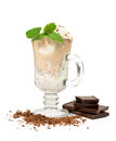 Vanilla and coffee ice cream Stock Image