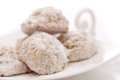 Vanilla cookies with powdered sugar Royalty Free Stock Photo