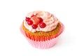 Vanilla cupcake with whipped cream Royalty Free Stock Photo