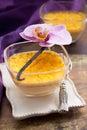 Vanilla flan Royalty Free Stock Photo