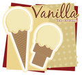 Vanilla Ice Cream Royalty Free Stock Photos