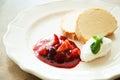 Vanilla ice-cream cake with berries Royalty Free Stock Photo