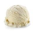 Vanilla ice cream scoop isolated on white background Royalty Free Stock Photo