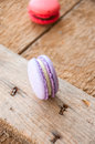 Vanilla macarons with cream cheese filling