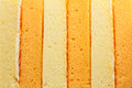 Vanilla and orange chiffon cake texture Stock Images