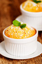 Vanilla souffle or cupcake Royalty Free Stock Photo