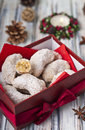 Vanillekipferl anise seed crescent cookies for christmas Stock Image