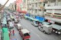 Vanità sulle vie della vista di bangkok da sopra Fotografie Stock