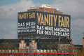 Vanity fair circa february berlin a huge advertisement for the magazine on the high rise of the charite hospital in the mitte Royalty Free Stock Photo