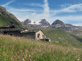 Vanoise; Alp with hut Royalty Free Stock Photo