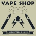 Vape shop logotype. Vape e-cigarette logo. Vector illustration