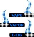 Vape, vapor bar logo