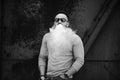 Vaper With Beard In Sunglasses...
