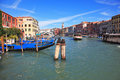 Vaporetto is transported by thousands delighted tourists the famous grand canal in venice fine sunny day the photo made a lens Stock Photo
