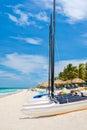 Varadero beach in Cuba on a sunny summer day Royalty Free Stock Photo