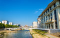 The Vardar river near Ministry of Foreign Affairs Royalty Free Stock Photo