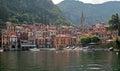 Varena town at lake Como. Royalty Free Stock Photo
